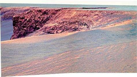 Les remparts du cratère Victoria vus par Opportunity