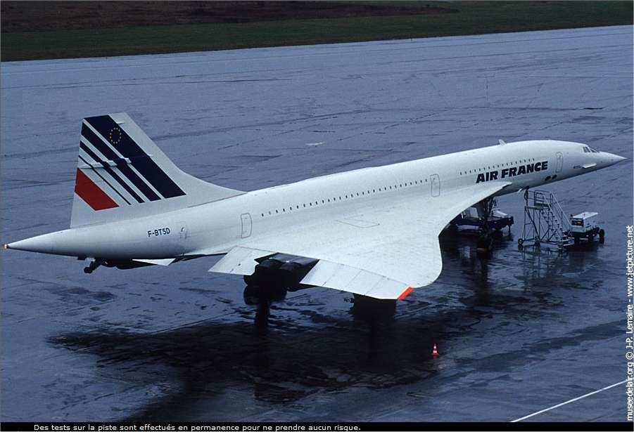 Le Concorde F-BTSD, qui vola pour la première fois le 26 juin 1978 et fut l'un des derniers à avoir volé. © J.P. Lemaire / Musée de l'air et de l'espace