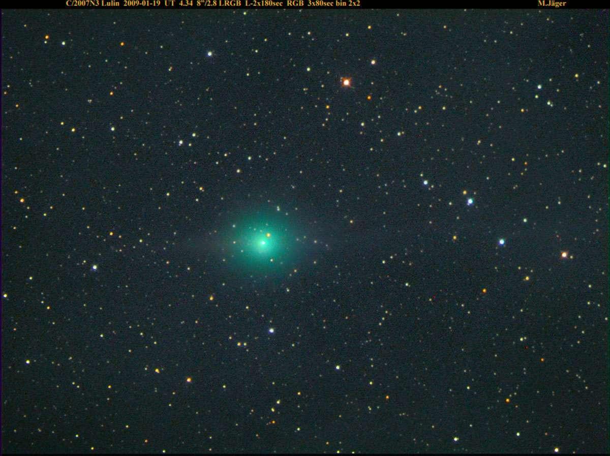 Lulin saisie par l'astronome amateur Michael Jäger le 19 janvier 2009. © Michael Jäger