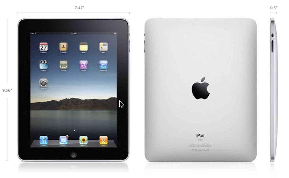 Selon les dernières rumeurs, l'iPad 3 pourrait être légèrement plus épais que le modèle actuel en raison de la technologie d'écran retenue. © Apple