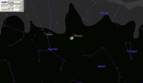 La Lune sera proche des Pléiades