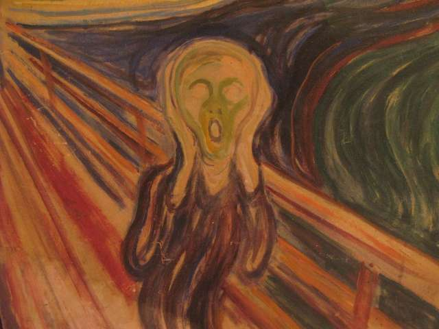 Le Cri (Skrik en norvégien) es un tableau expressionniste du peintre Edvard Munch. Cette œuvre symbolise l'homme moderne emporté par une crise d'angoisse profonde. Ses cellules devaient probablement vieillir à toute allure… © Christopher Macsurak, Flickr, cc by 2.0