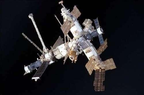Mir, la célèbre station spatiale russe. Crédit Nasa