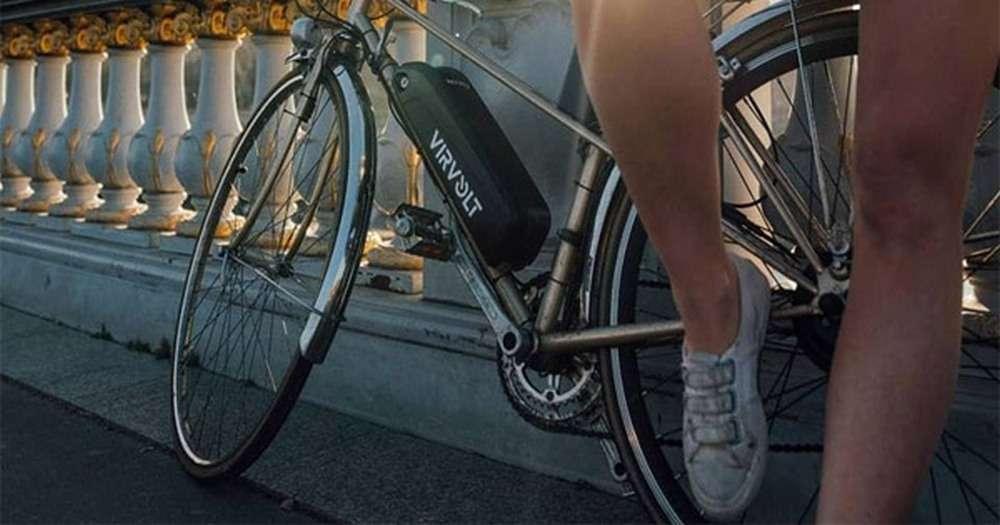 Le kit de conversion VAE de Virvolt s'installe sur la plupart des vélos musculaires. © Virvolt