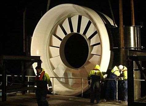 Turbine d'hydrolienne OpenHydro. Crédit OpenHydro