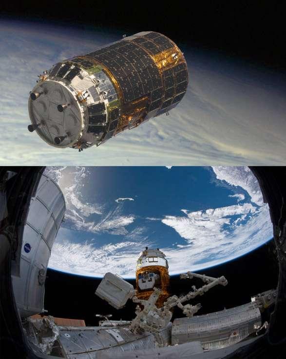 Après une mission de deux mois, l'HTV japonais s'est largué de la Station spatiale et a été détruit dans l'atmosphère terrestre 36 heures plus tard. © Nasa