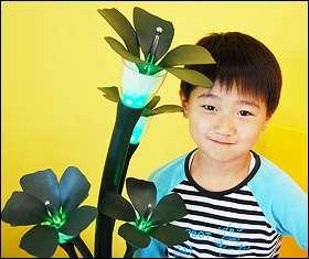 La plante-robot de l'équipe coréenne. © Chonnam National University /Yonhap