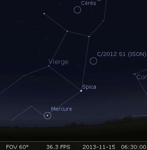 Observez la comète Ison