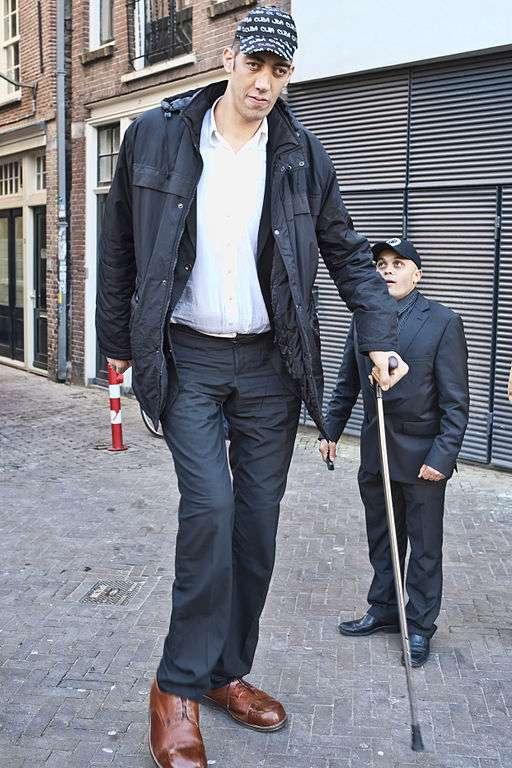 Sultan Kösen est l'homme le plus grand du monde, avec 2,51 m. Né en Turquie en 1982, il est atteint de gigantisme. Sa croissance anormale résulte d'une tumeur affectant son hypophyse. © Amsterdamman, cc by sa 3.0