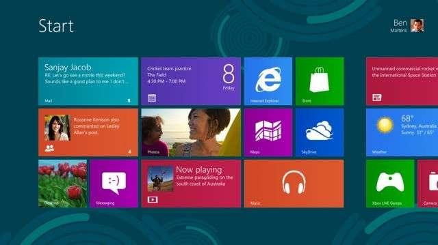Windows 8 sera disponible le 26 octobre prochain. Pour installer la version limitée, vous devez disposer de 20 Go d'espace disque. © Microsoft