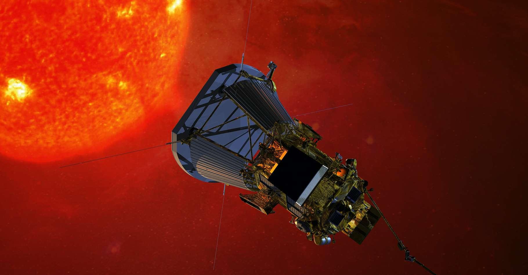 Avant la sonde Parker Solar Probe, aucun engin spatial ne s'était approché à moins de 43 millions de kilomètres du Soleil. Ce record était détenu par la mission Hélios 2 (1976). © Nasa, Johns Hopkins University Applied Physics Laboratory, Wikipedia, Domaine public