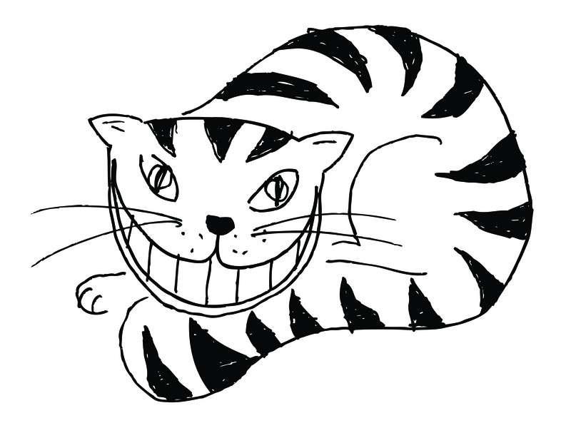 Une représentation du chat du Cheshire, le fameux félin d'Alice au pays des merveilles. Il devient aujourd'hui le symbole d'une expérience en physique quantique qui vient d'être réalisée. Celle-ci montre que le monde quantique est tout aussi étrange que celui d'Alice. Il prend donc place au côté du fameux chat de Schrödinger. © Leon Filter