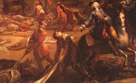 La peste à Marseille en 1720 (peinture du XVIIIe siècle). © DR