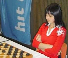 Darya Tkachenko, championne du monde 2006 du - vrai - Jeu de Dames. Crédit : Fédération française du Jeu de Dames