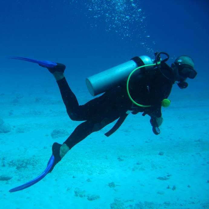 Un plongeur dans les eaux du Mexique. Crédit : Soljaguar-GNU Free Documentation License