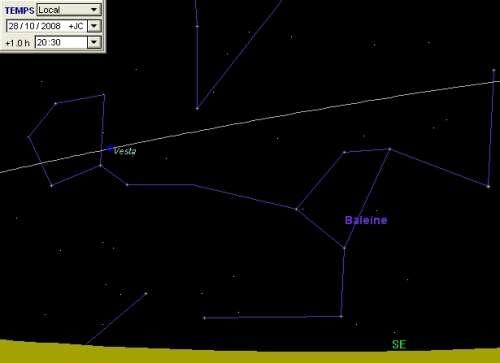 L'astéroïde Vesta est en opposition
