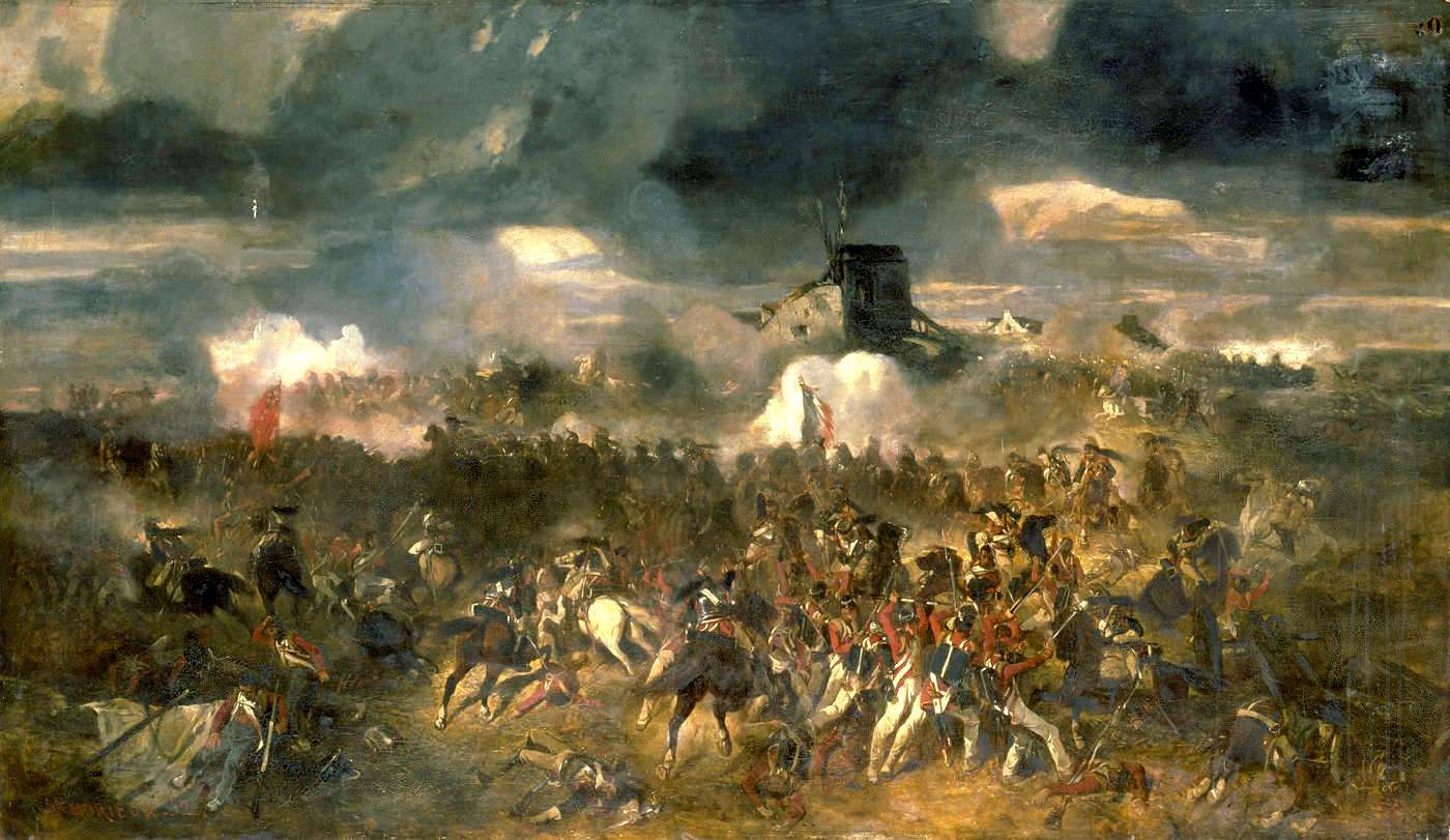 La bataille de Waterloo a été remportée par le duc de Wellington et le maréchal von Blücher, malgré leur infériorité numérique sur l'armée napoléonienne. © Clément-Auguste Andrieux, Wikimedia Commons, DP