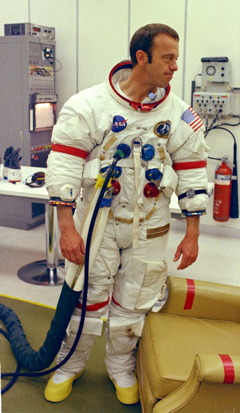 Alan Shepard en 1971 avant son vol sur la mission Apollo 14. © Nasa