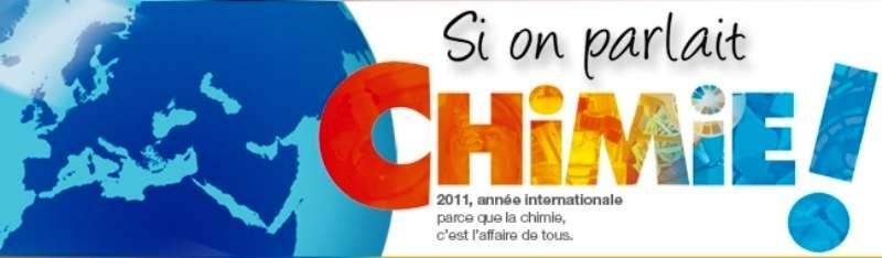 Le bandeau du site du CNRS « Si on parlait chimie ! » à l'occasion de l'Année internationale de la chimie. © CNRS