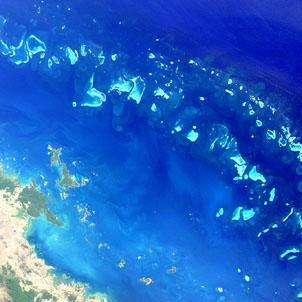 © ESALa Grande Barrière de Corail vue par satellite