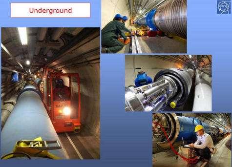 Le LHC. Crédit : Cern
