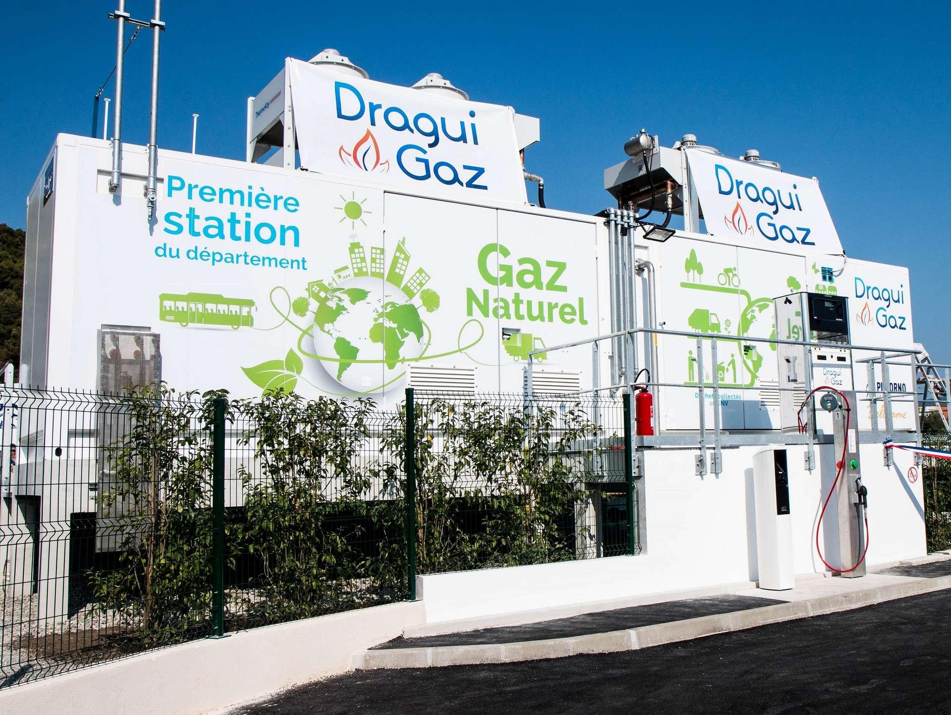 La station Dragui Gaz inaugurée le 4 juillet 2019 dans la zone d'activités de Saint-Hermentaire, à Draguignan est la première de son genre dans tout le Var. © Pizzorno Environnement