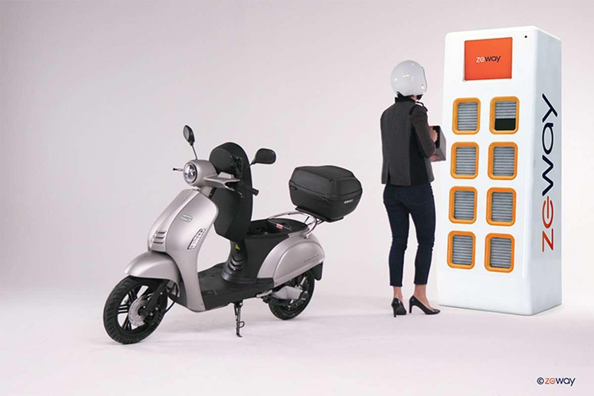Le scooter électrique SwapperOne de Zeway. © Zeway