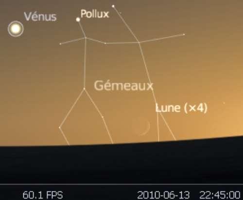 Observez le très fin croissant lunaire après la nouvelle Lune