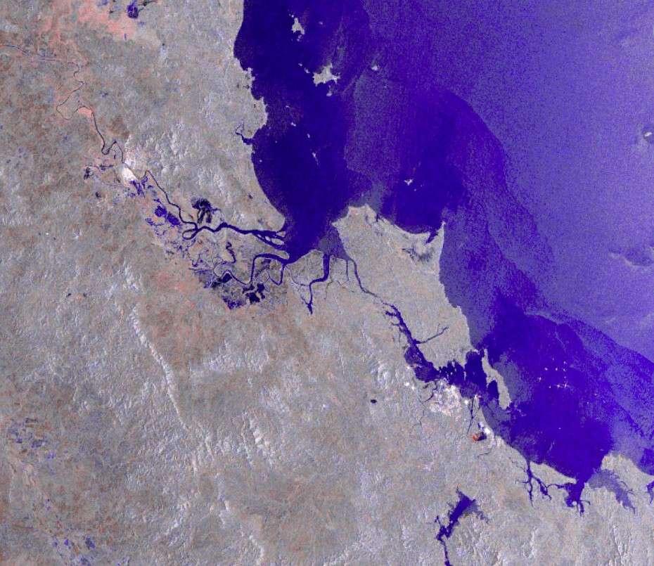 Cette image multitemporelle en fausses couleurs a été acquise en janvier 2011 par le radar ASAR à bord d'Envisat, en mode à large fauchée et moyenne résolution. © Esa