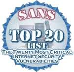 Le SANS Institute publie son top 20 des vulnérabilités de l'année