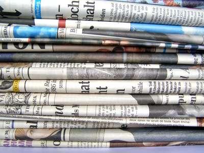 Papiers journaux. © DR