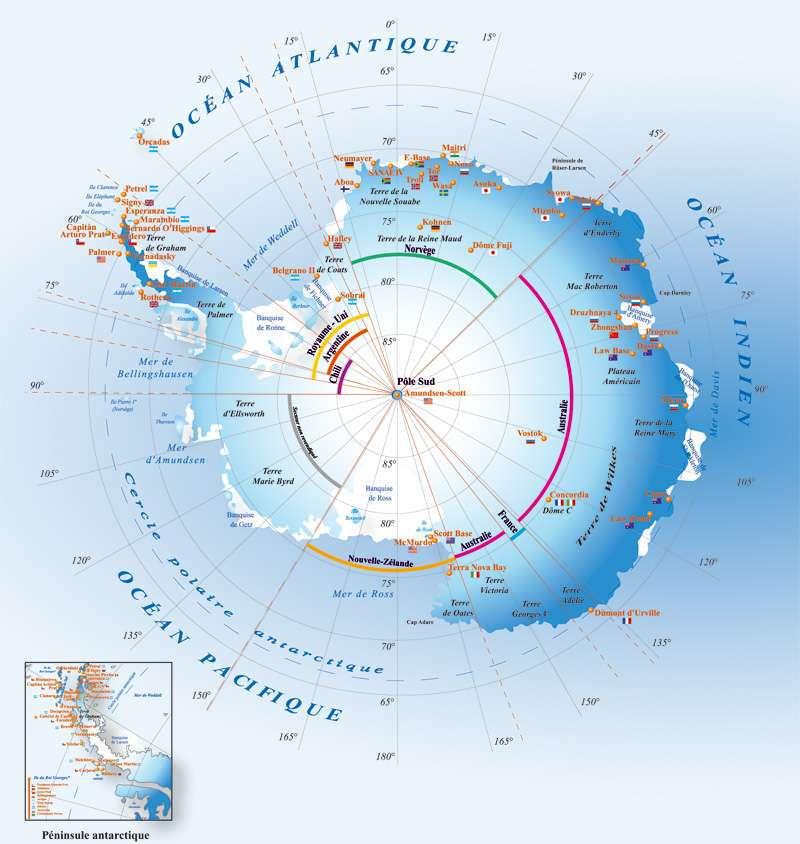 L'Antarctique est un continent situé au pôle Sud. De nombreuses bases scientifiques y sont présentes© IPEV, DR
