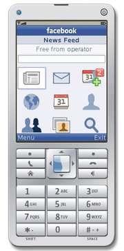 Une esquisse de ce qui pourrait être un téléphone Facebook. © Facebook - Utilisation réservée