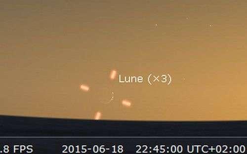 Le 18 juin, observez le très fin croissant lunaire. © Futura-Sciences