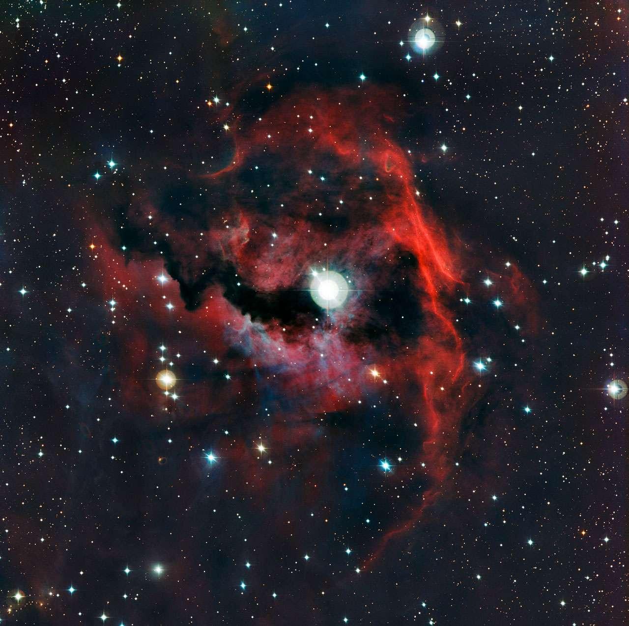 Cette vue détaillée de la tête de la nébuleuse de la Mouette (Sharpless 2-292) a été réalisée par la caméra WFI (Wide Field Imager) sur le télescope de 2,2 m MPG/ESO. © ESO