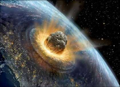 Scénario d'un impact d'astéroïde. © pantolich