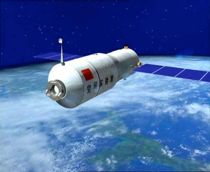 Premier module orbital lancé par la Chine, Tiangong-1 préfigure la station spatiale que projette de construire la Chine vers 2020. © CNSA