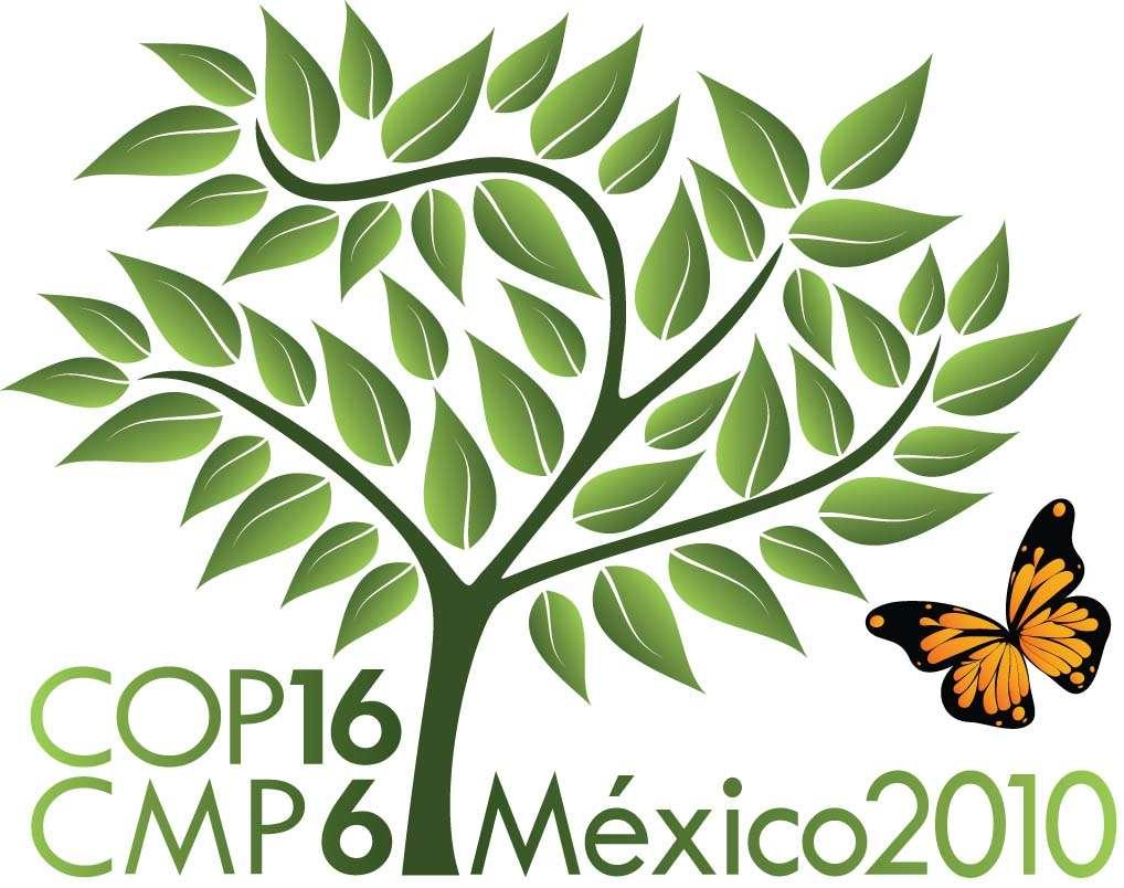 Cop 16 à Cancun : une des dernières grandes réunions avant la fin du protocole de Kyoto, en 2012. (Logo officiel)