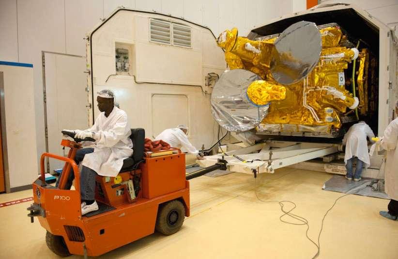 Thales Alenia Space vient de mettre en place une commission d'enquête qui devrait remettre son rapport d'ici quelques semaines. © 2010 Esa/Cnes-Arianespace/Photo Optique Video CSG