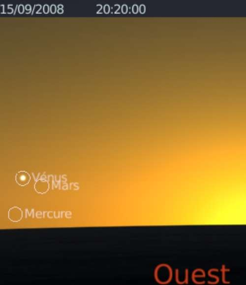 La planète Vénus est en rapprochement avec la planète Mercure