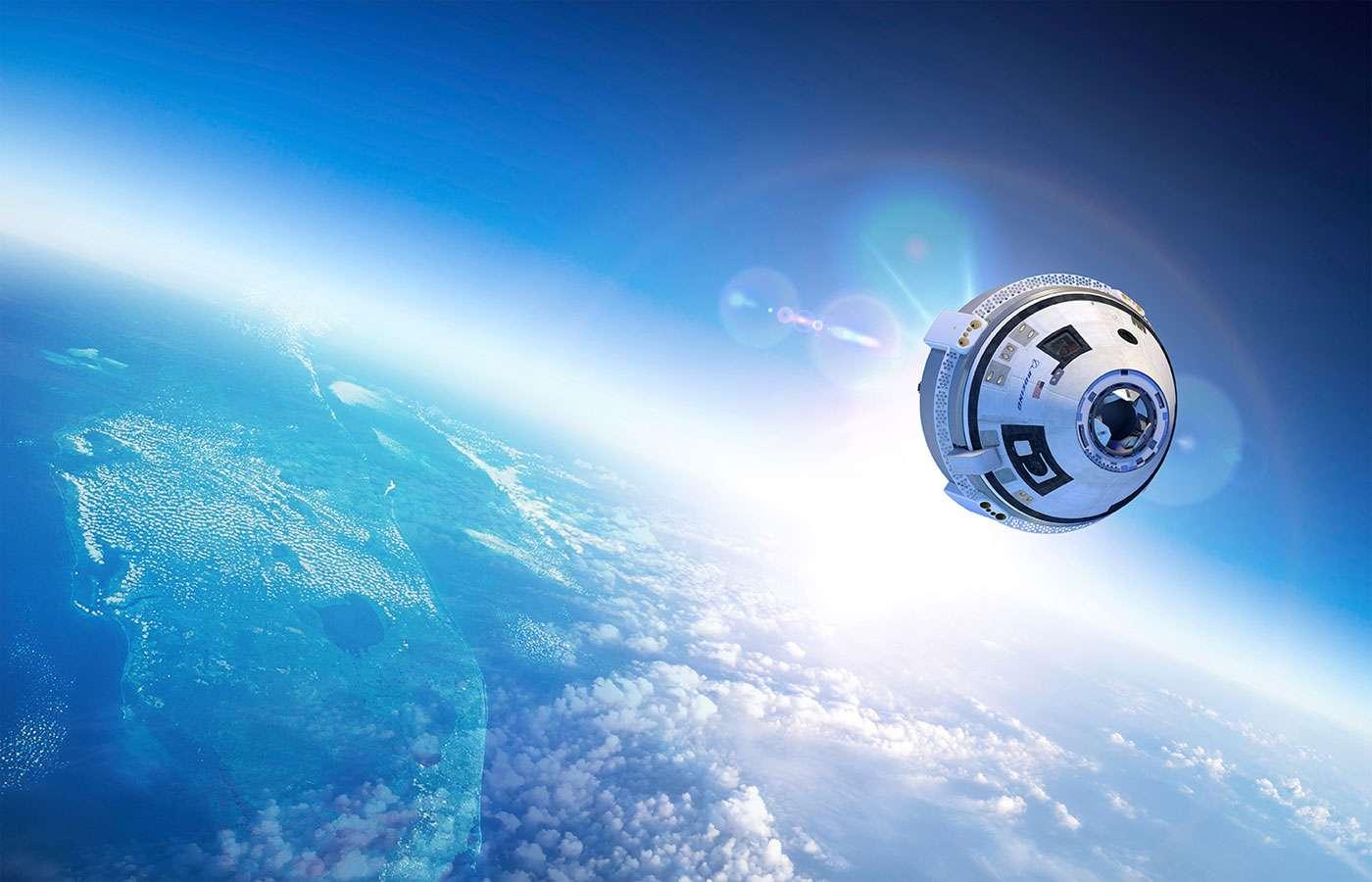 Après Lockheed Martin, Boeing est exclu du deuxième contrat de ravitaillement en fret de la Station spatiale internationale (ISS) pour la période 2018-2024. Ici, la capsule CST-100 Starliner de Boeing, sélectionnée pour transporter des astronautes de la Nasa. © Boeing