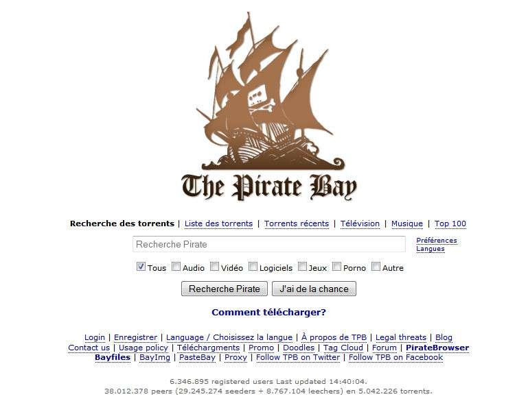 Le navigateur PirateBrowser a été lancé par The Pirate Bay pour fêter ses dix ans d'existence. Le site continue d'exister malgré un harcèlement judiciaire et technique permanent. © The Pirate Bay