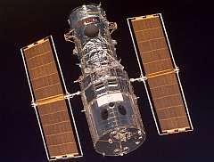 Le télescope spatial Hubble en orbite (crédit Nasa)
