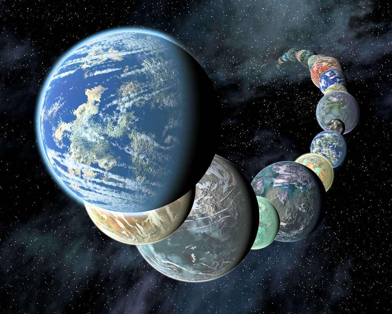 Le compteur des exoplanètes a dépassé la barre des 4.000. Dans le lot se cachent certainement un cortège de mondes potentiellement habitables, telles que les exoplanètes imaginées ici dans cette vue d'artiste. © Nasa/JPL-Caltech/R. Hurt (SSC-Caltech)
