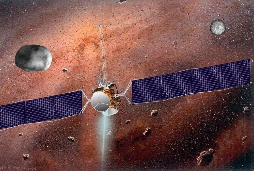 Il faudra attendre 2015 pour que la sonde Dawn nous révèle l'aspect de Cérès, le premier et le plus gros des astéroïdes découverts. © UCLA