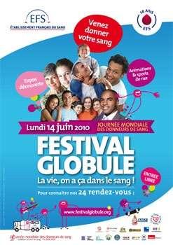 Le Festival Globule organisé par l'EFS sera présent dans 24 grandes villes françaises le 14 juin. © EFS