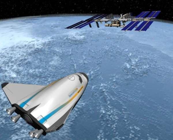 Le Dream Chaser, l'avion spatial de Sierra Nevada, est un des quatre projets retenus par la Nasa dans le cadre de son partenariat public-privé. © Sierra Nevada