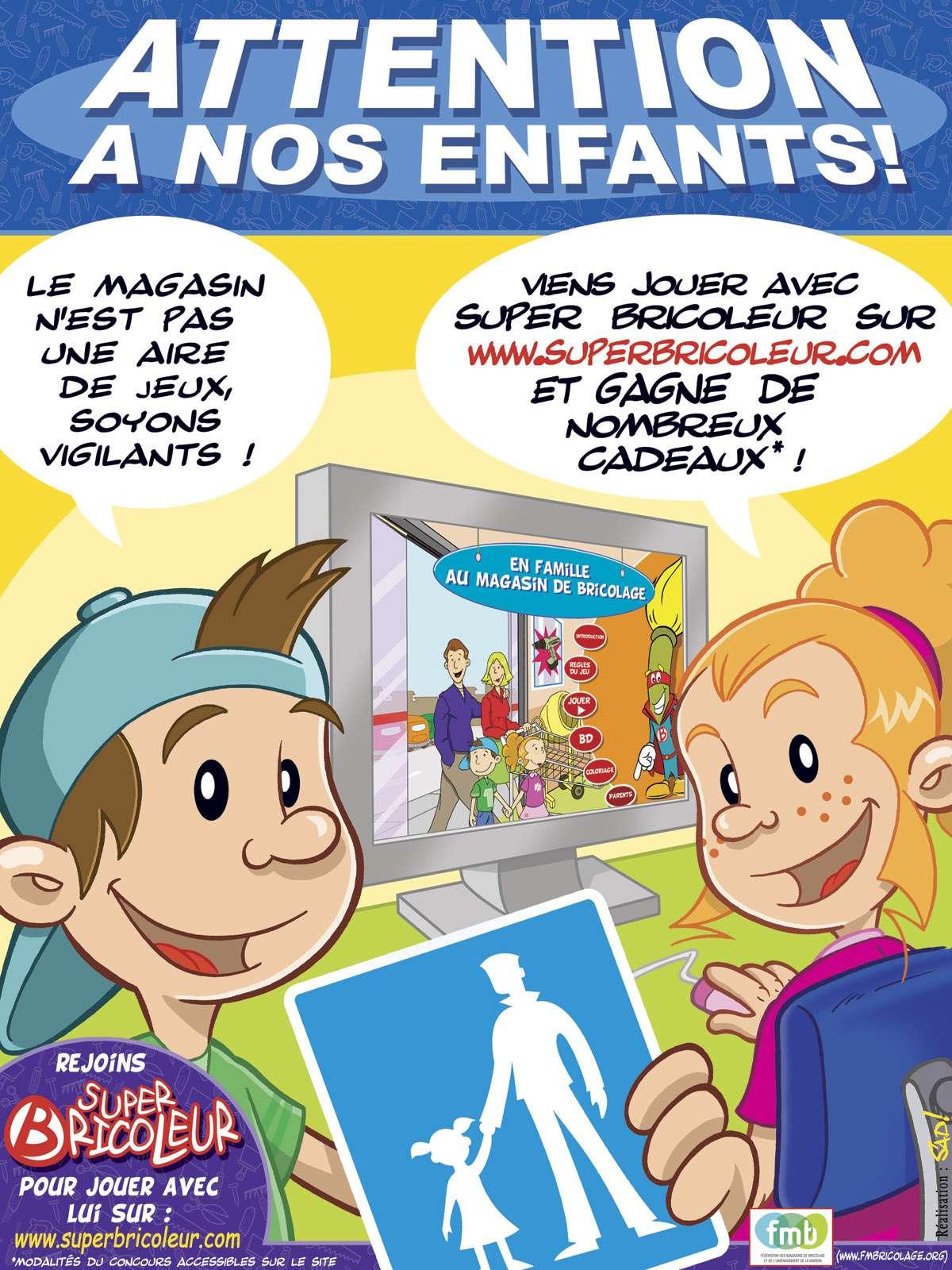 Le site superbricoleur.com s'associe à la Fmb pour sensibiliser les plus jeunes aux risques d'accidents du bricolage Crédits : DR