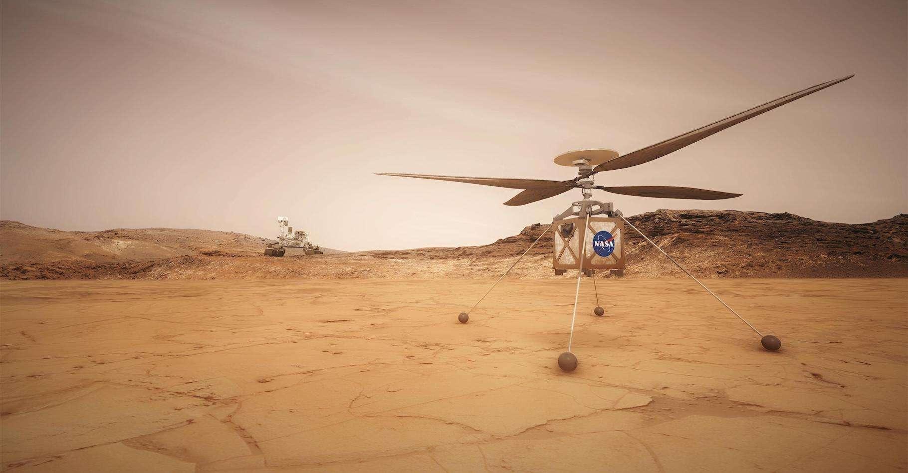 Ingenuity est une technologie de démonstration qui vise à montrer la faisabilité d'un vol sur une autre planète que la Terre. © Nasa, JPL-Caltech