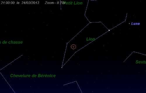 Maximum de l'essaim météoritique des delta-Léonides